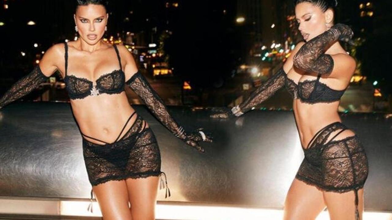 40 yaşındaki güzel Adriana Lima pozlarıyla sosyal medyayı kasıp kavurdu