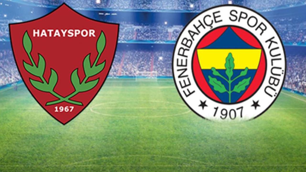 Fenerbahçe zorlu Hatay deplasmanında 3 puanı kaptı