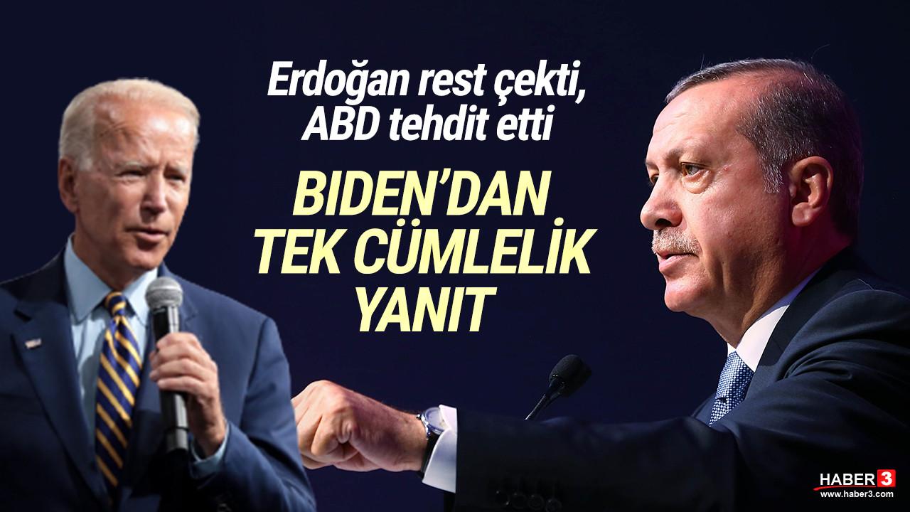 Erdoğan'ın S-400 çıkışına Biden'dan tek cümlelik yorum