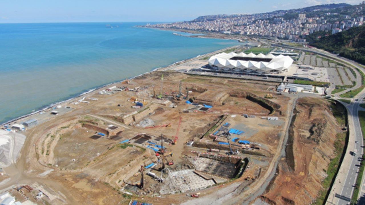 Deniz dolgusuna şehir hastanesi... İnşaatın son hali görüntülendi