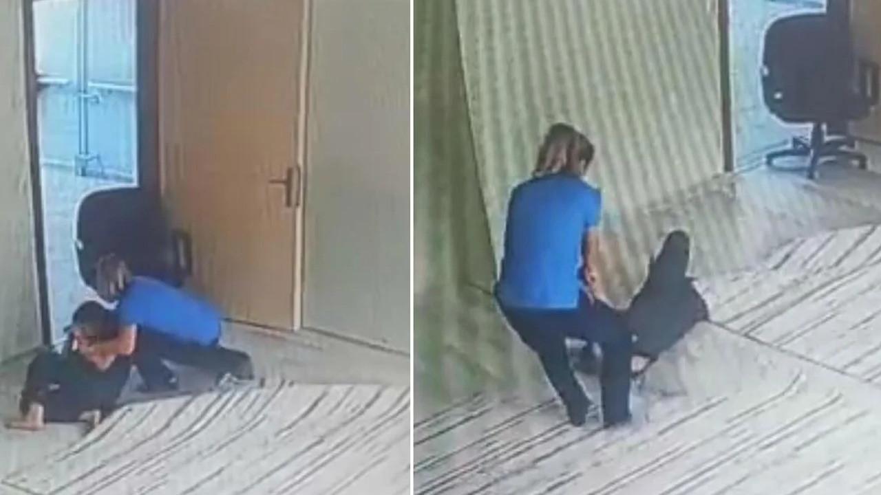 Engelli öğrenciye şiddetin kan donduran görüntüleri ortaya çıktı