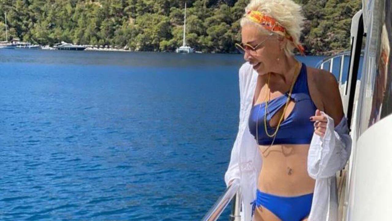 Linet, bikinili pozlarına dikkat çeken yorum: ''Aaa göbek deliği yokmuş!''