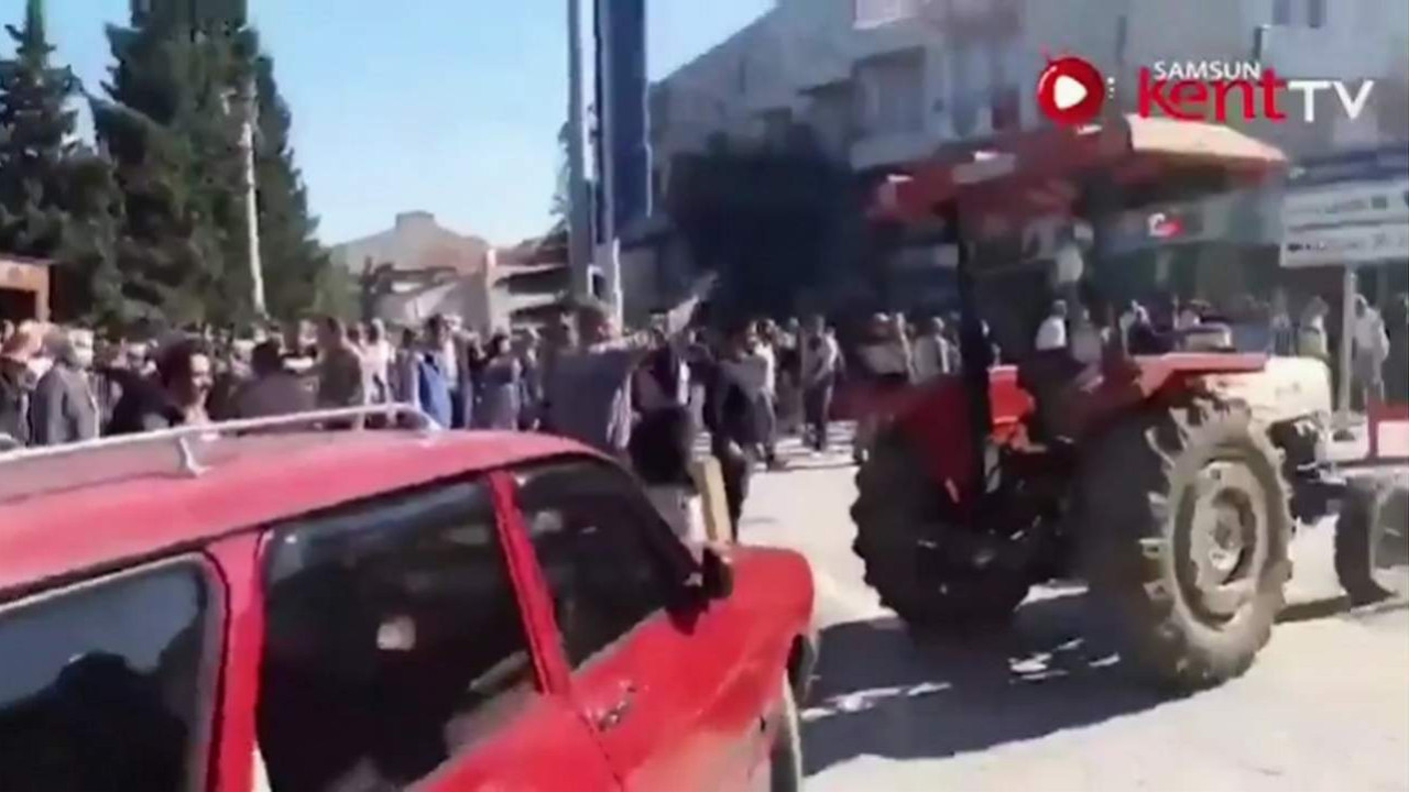 Köylüler AK Partili belediyeyi taşladı!