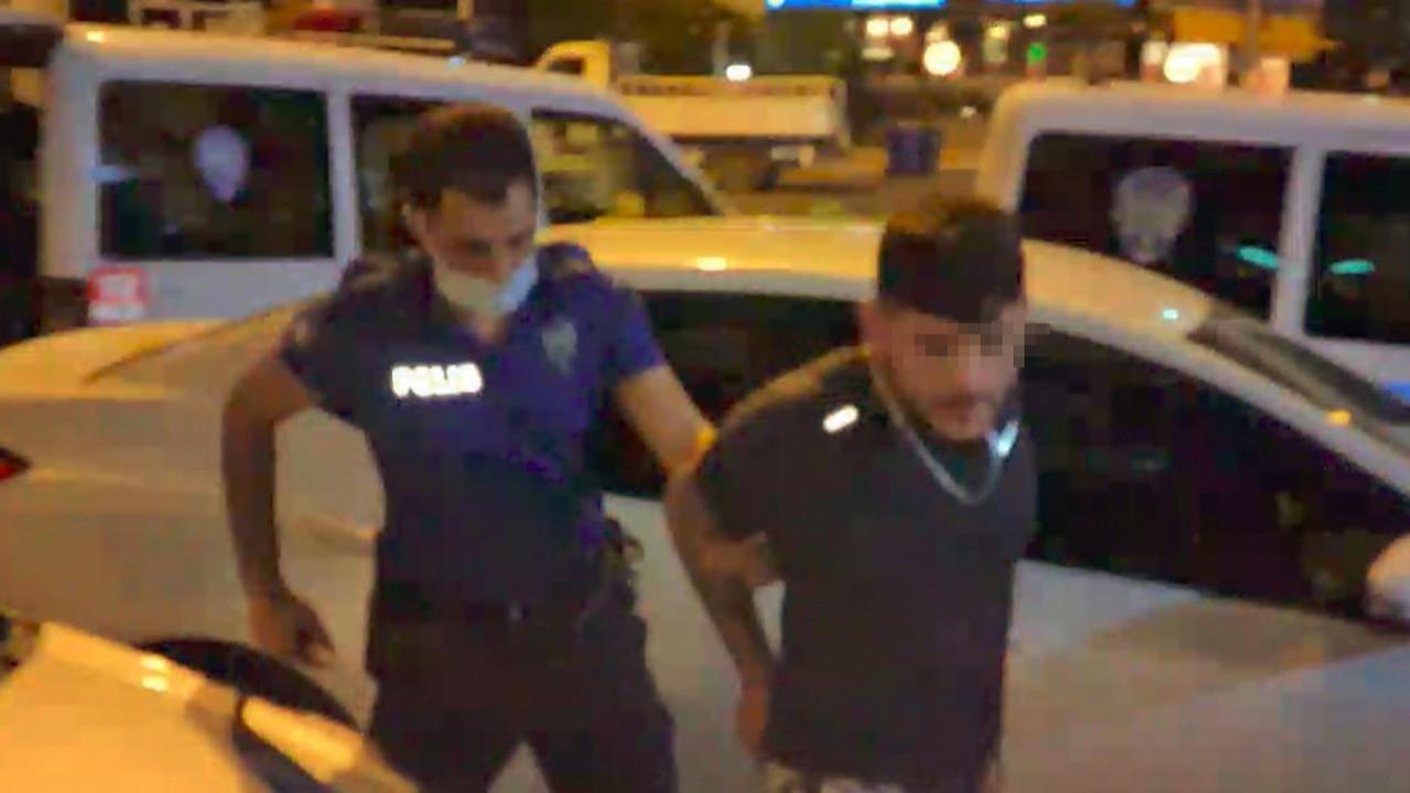 Dehşet saçan sürücü polisten kaçarken ortalığı birbirine kattı