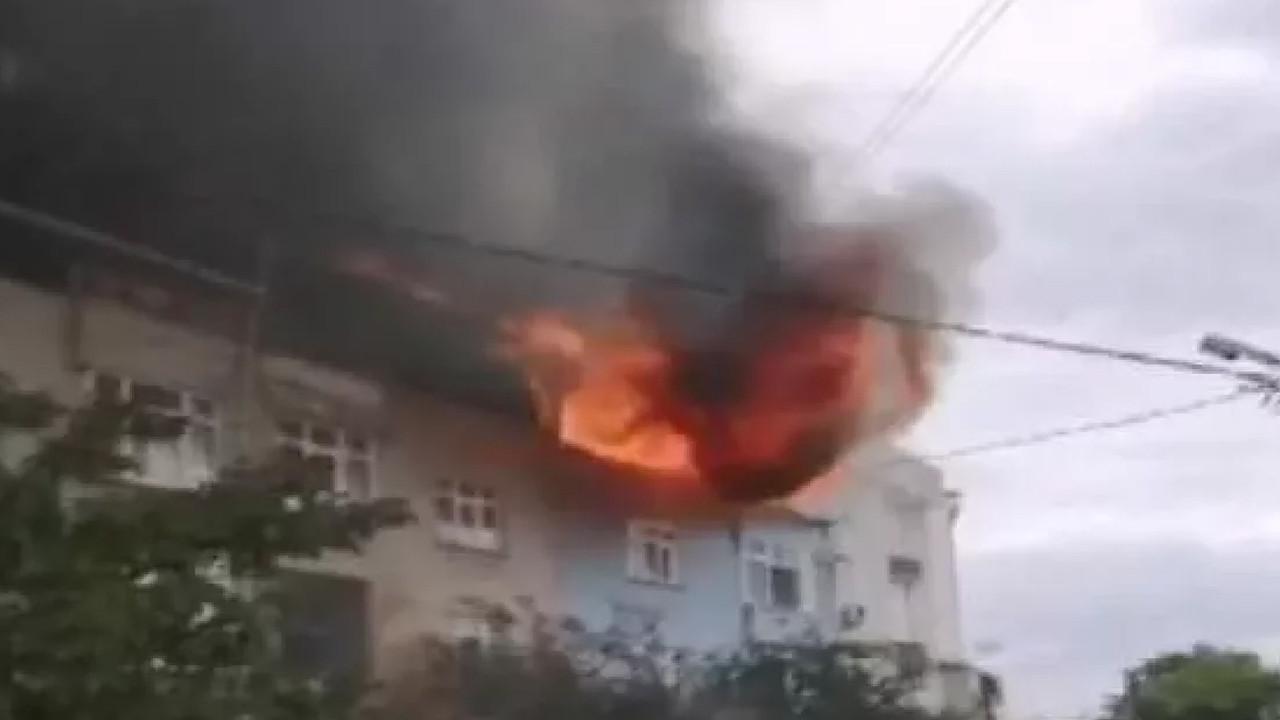 Oturduğun apartmanın yandığını görünce fenalaştı
