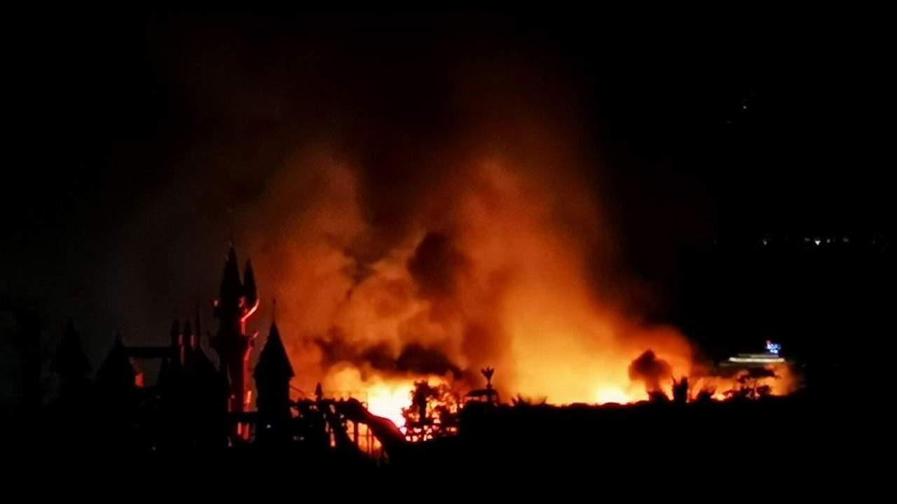 Bodrum'da 5 yıldızlı otelde korkutan yangın