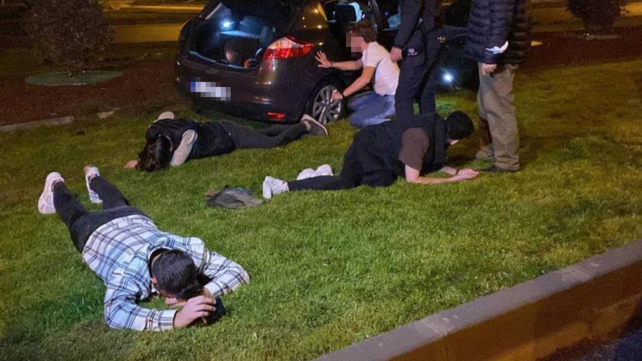 Polisin önünde drift böyle bitti