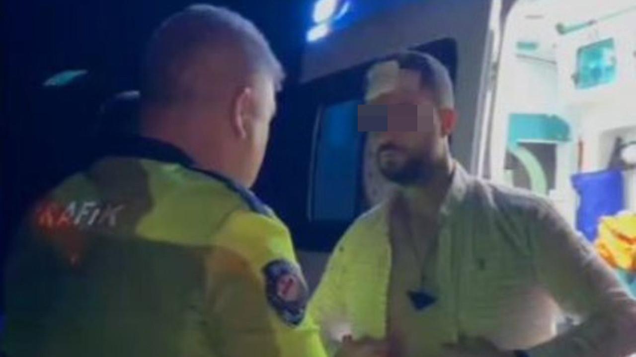 Alkollü polis memuru, meslektaşlarına zor anlar yaşattı