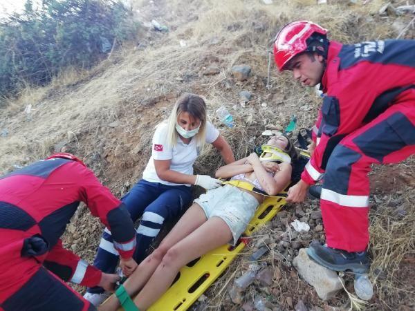 25 metrelik uçuruma uçan turist çift Muğla'da ölümden döndü