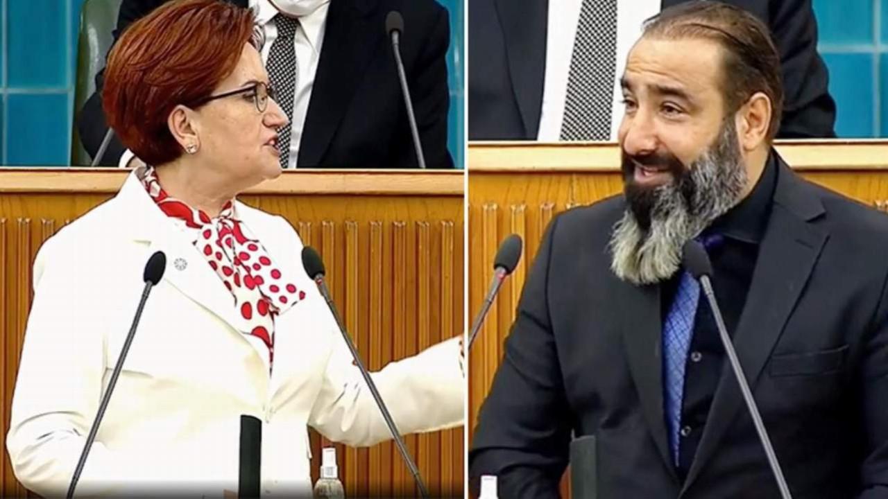 Bahçeli ''terörist kebapçılar'' dedi Akşener parti kürsüsüne kebapçı çıkardı