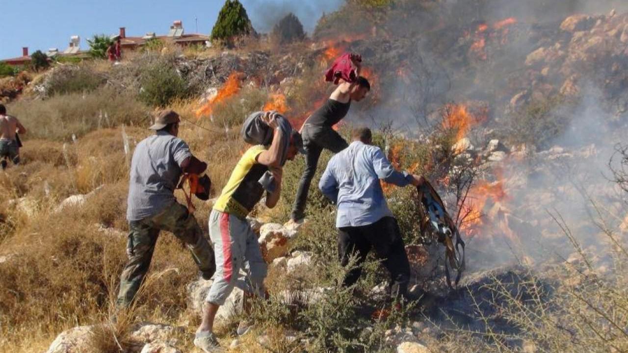 Orman yangınına bu sefer ilk onlar müdahale etti