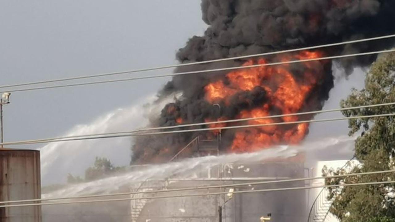 Petrol tesisinde büyük yangın
