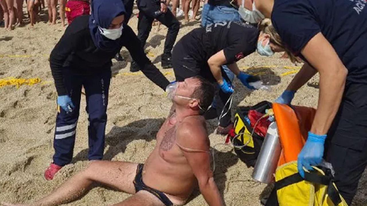 Dünyaca ünlü plajda korku dolu anlar