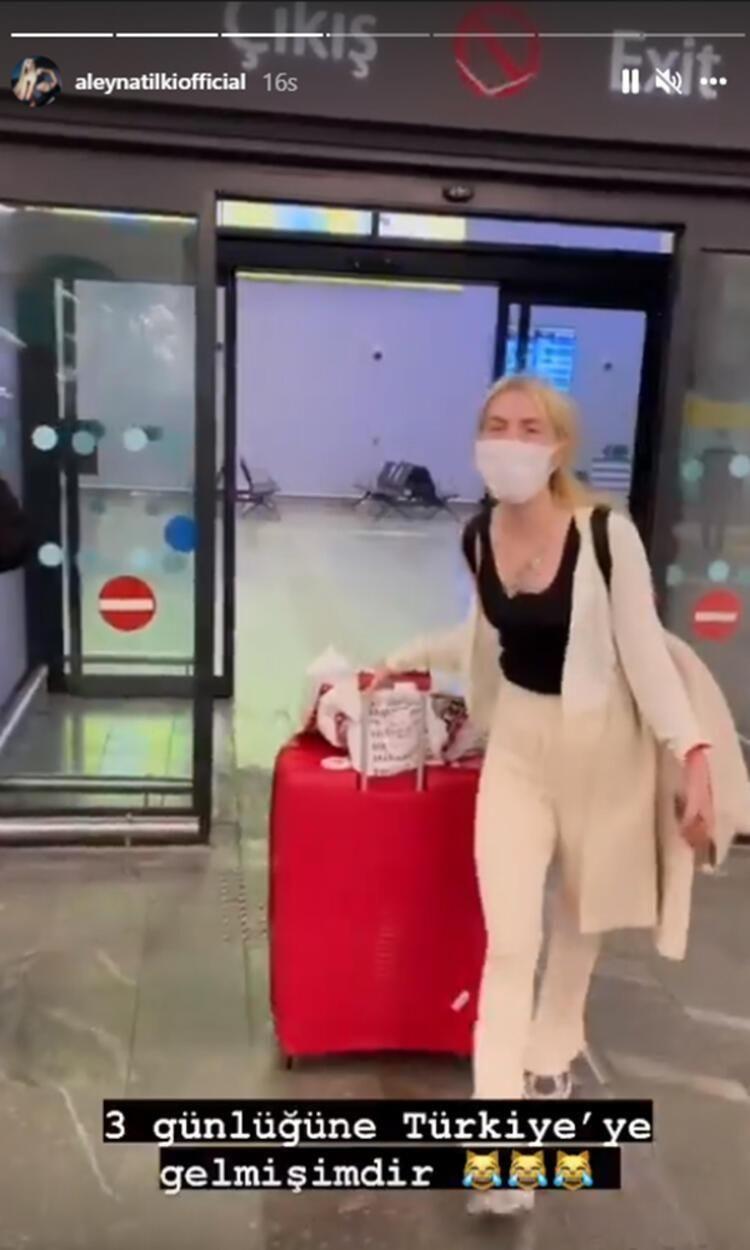 Türkiye'ye dönen Aleyna Tilki'den havaalanında dans - Resim: 3