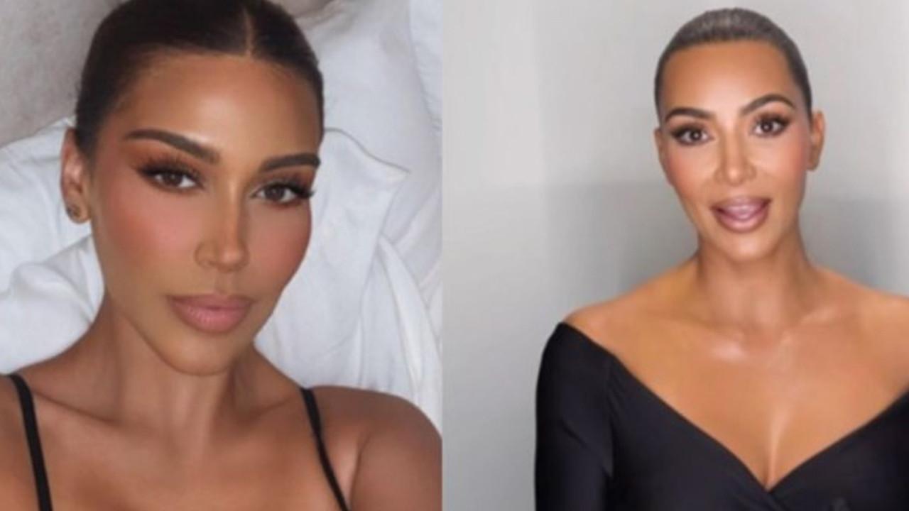 Kim Kardashian'a benzerliği ile dikkat çekiyor: Kendisini klonlamış