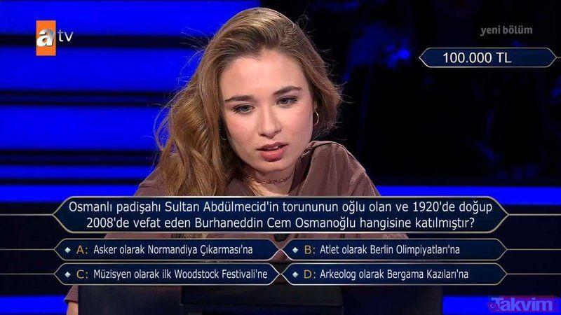 Kim Milyoner Olmak İster'e damga vuran Osmanlı sorusu