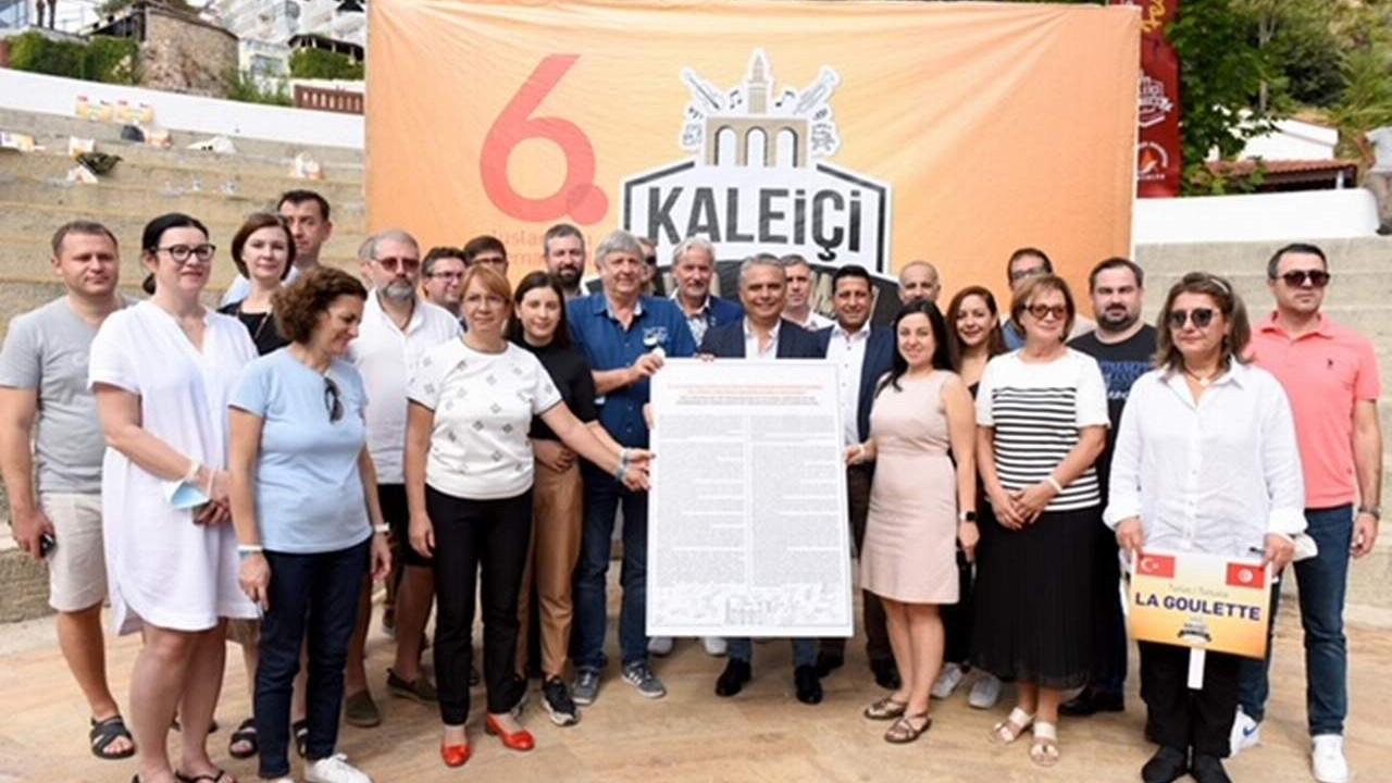 Muratpaşa'da 21 ülkeden 36 şehir ile kültürel miras için ortak deklarasyon