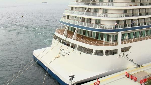 Dev yolcu gemisi Galataport İstanbul'a yanaştı