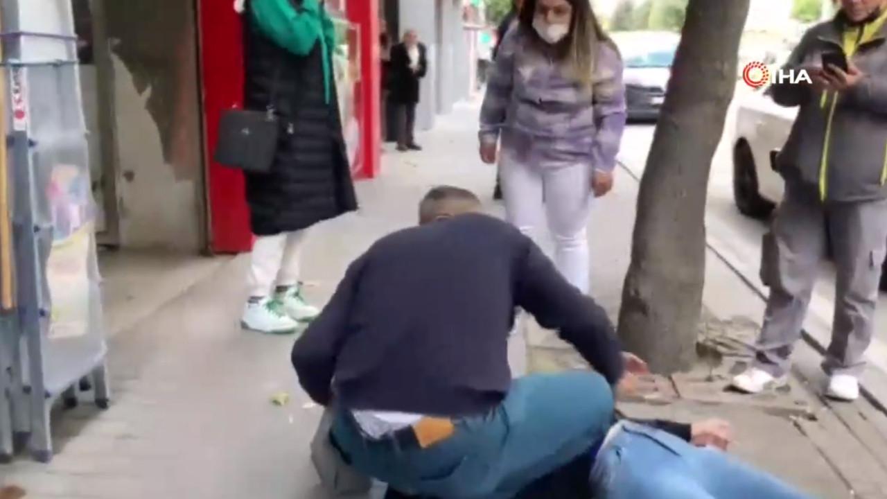 Genç kadını sokak ortasında tekme ve tokat dövüp serbest kaldı