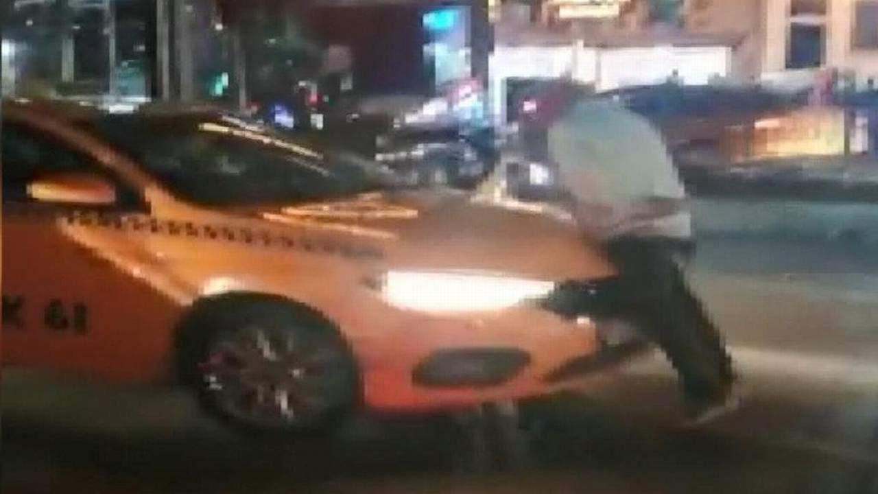 İstanbul'da taksinin almadığı yolcu ortalığı birbirine kattı