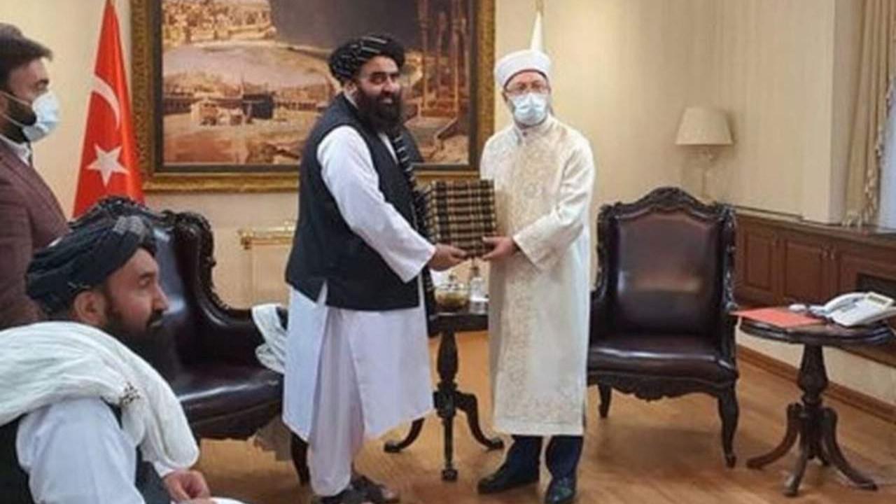 Diyanet İşleri Başkanı Erbaş da Taliban'la görüştü