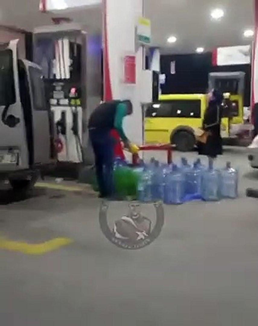 Zamma 1 kala benzin istasyonlarında korkutan görüntü
