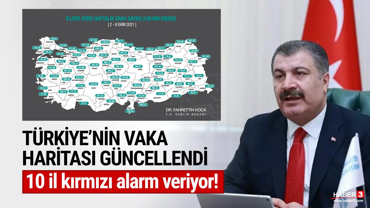 Türkiye'nin vaka haritası güncellendi: İşte vaka sayısı en çok artan iller