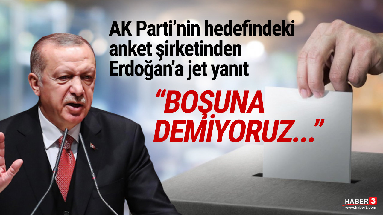 Erdoğan'ın anket tepkisine ORC Araştırma'dan jet yanıt: ''Boşuna demiyoruz...''