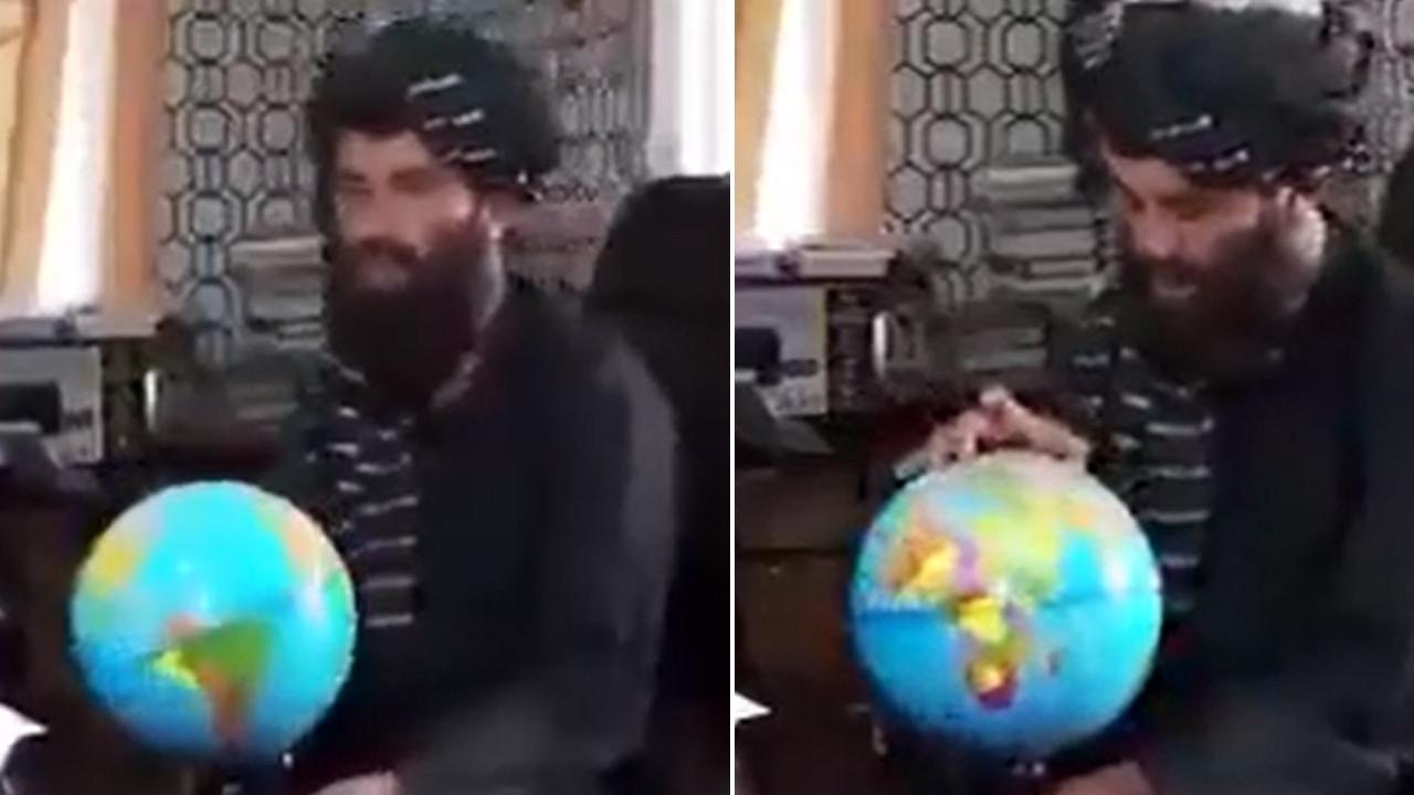 Taliban'ın atadığı vali haritada Afganistan'ı gösteremedi