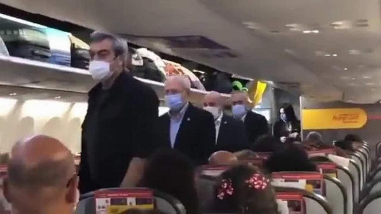 Kılıçdaroğlu yolcu uçağının ekonomi sınıfında yolculuk etti