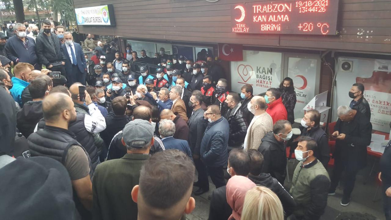 Trabzon'da tehlikeli gerginlik! ''Bunlar terörist'' diye bağırınca ortalık karıştı