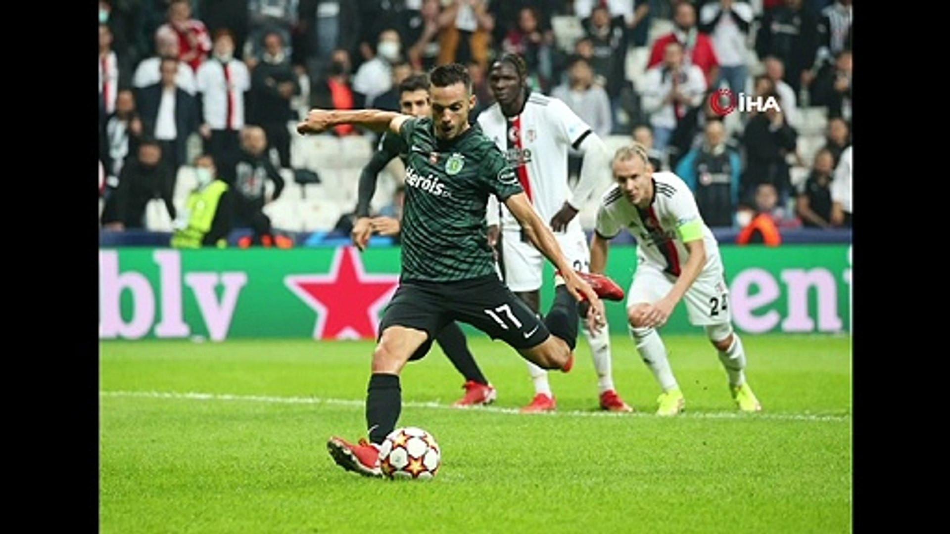 Beşiktaş - Sporting CP maçından kareler