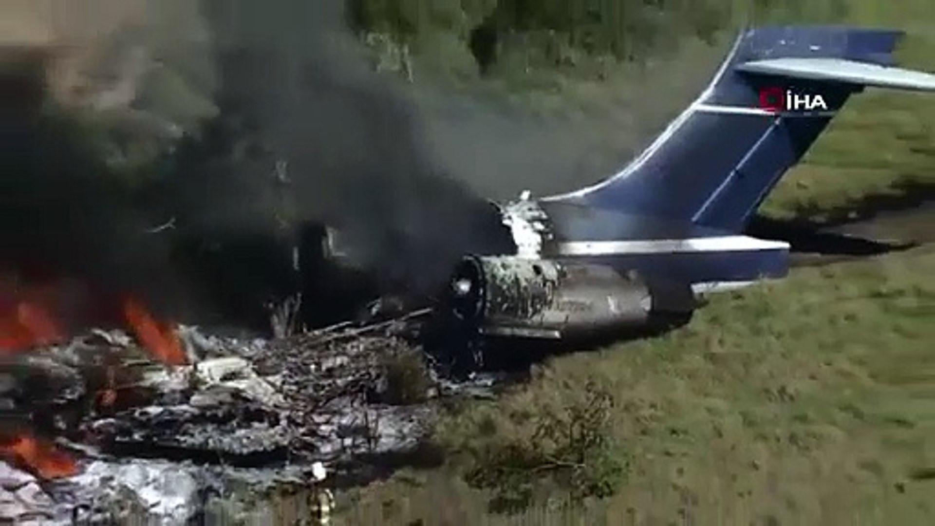 ABD'de 21 kişiyi taşıyan uçak düştü
