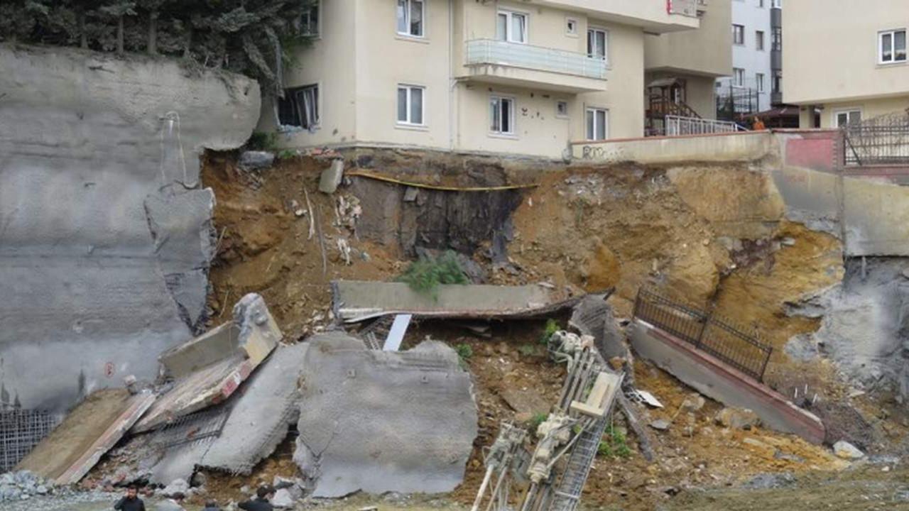 İstanbul'da AK Partili belediyenin proje inşatında çökme