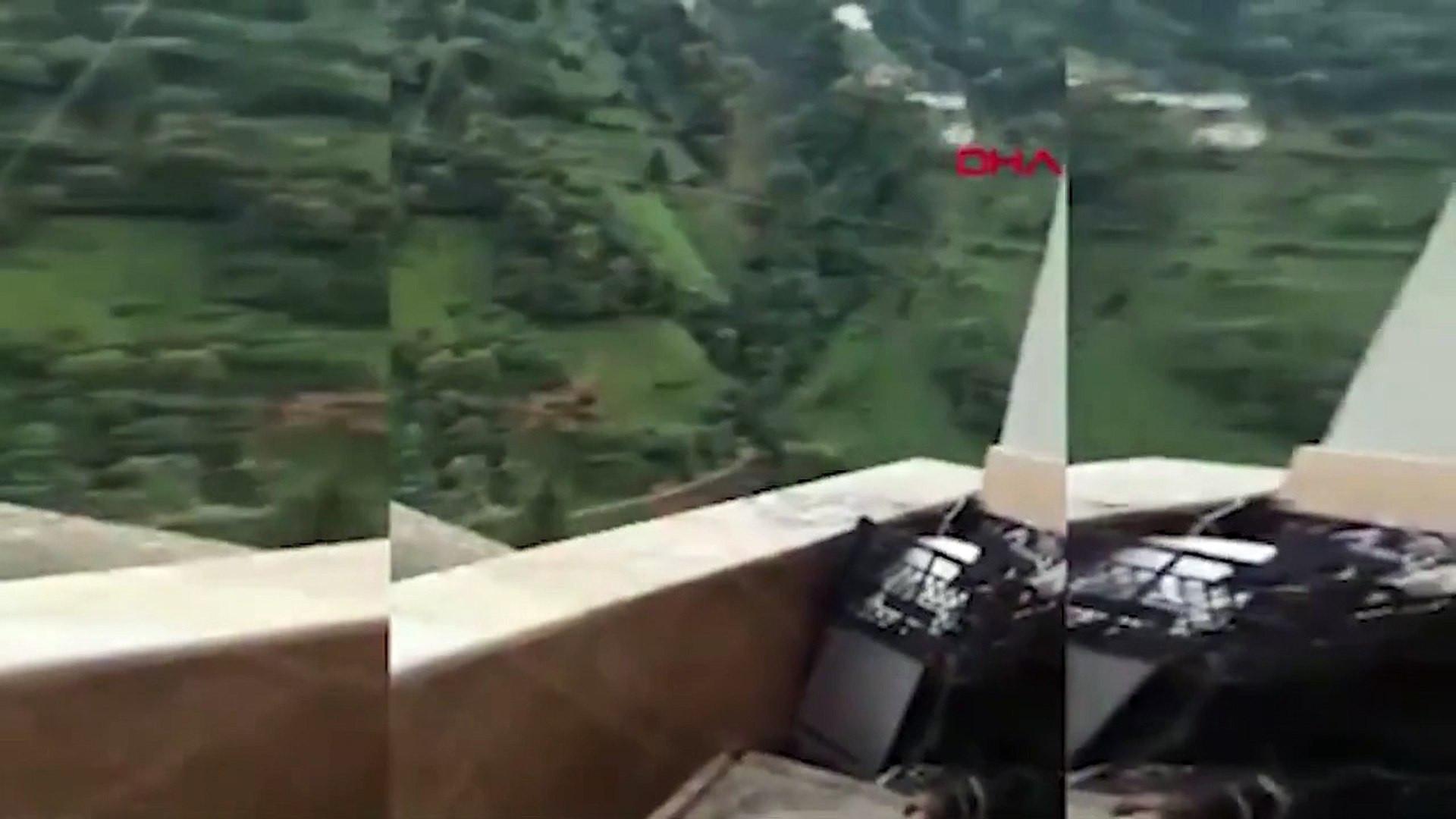 Rize'deki heyelan kamerada