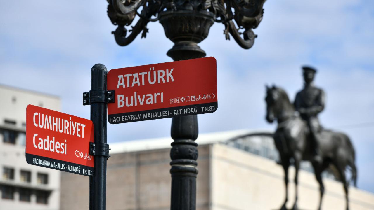 Yeni Ankara Fontu cadde ve sokak tabelaları ile buluşuyor