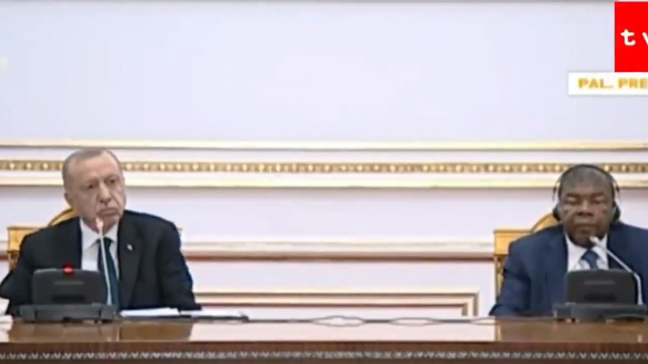 Angola Başbakan konuşurken, bakın Erdoğan ne tepki verdi