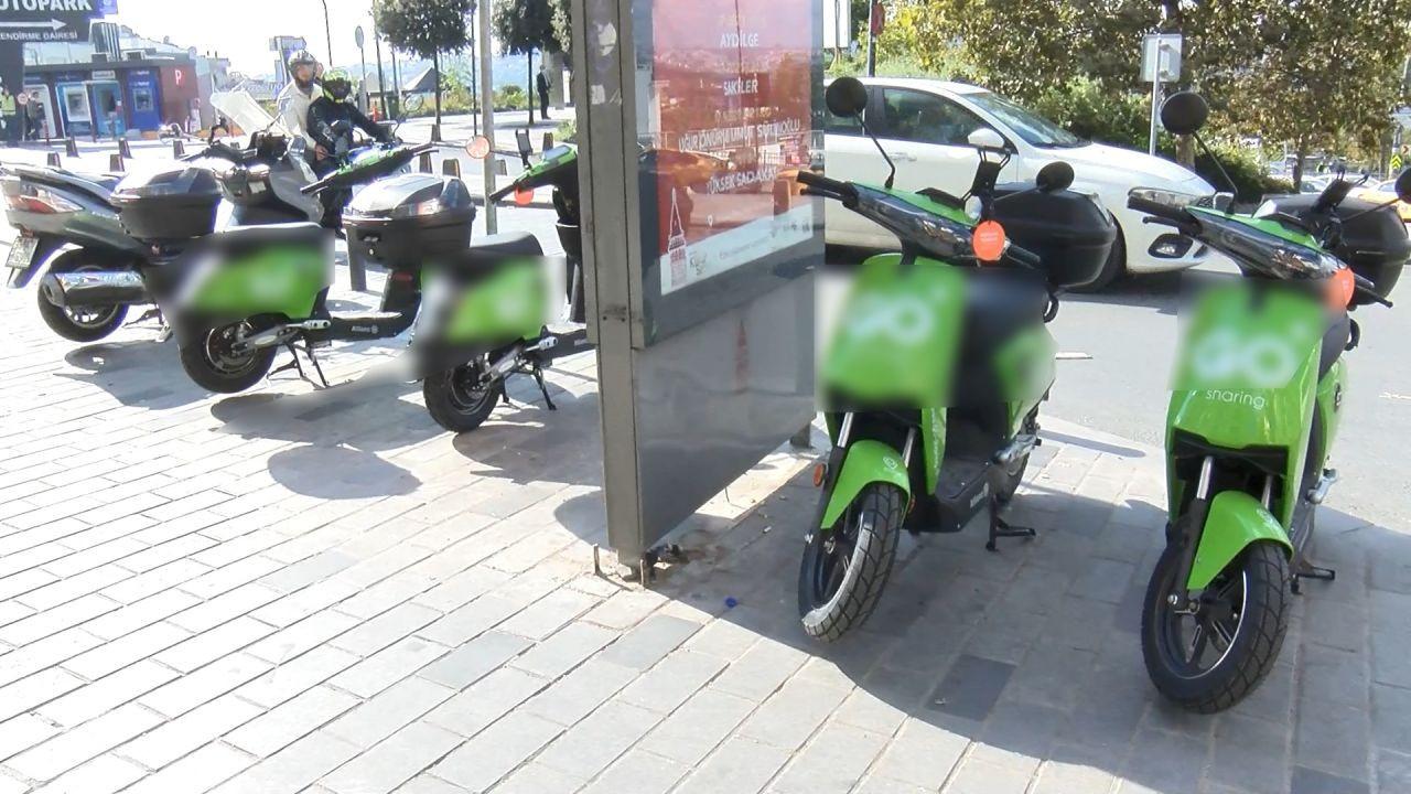 İstanbul kaldırımlarında ''moped'' işgali