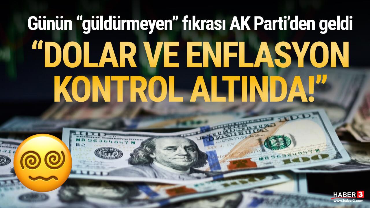 AK Partili Demiröz: ''Enflasyon ve kur yüksek ama inanın kontrol altında''