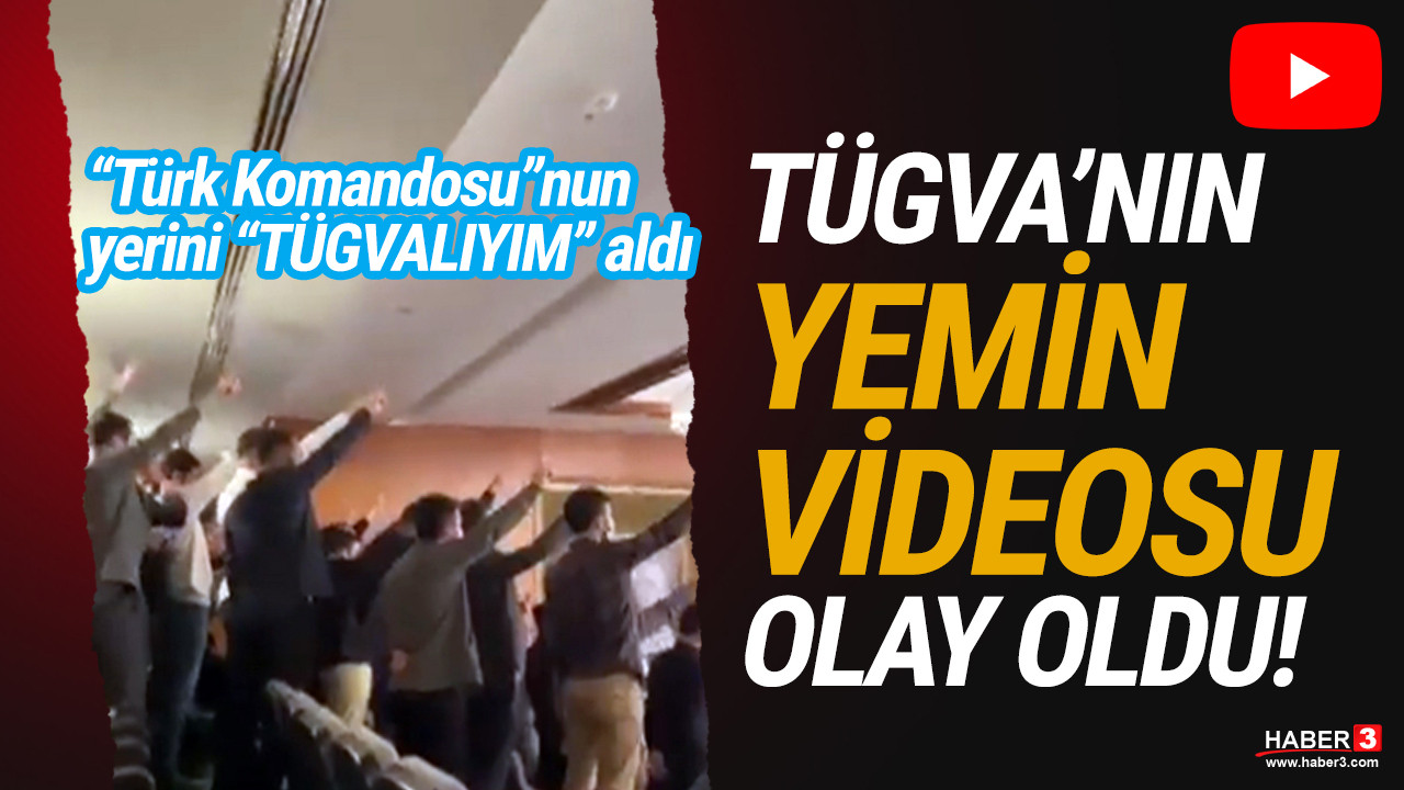 TÜGVA'lıların yemin videosu sosyal medyayı salladı