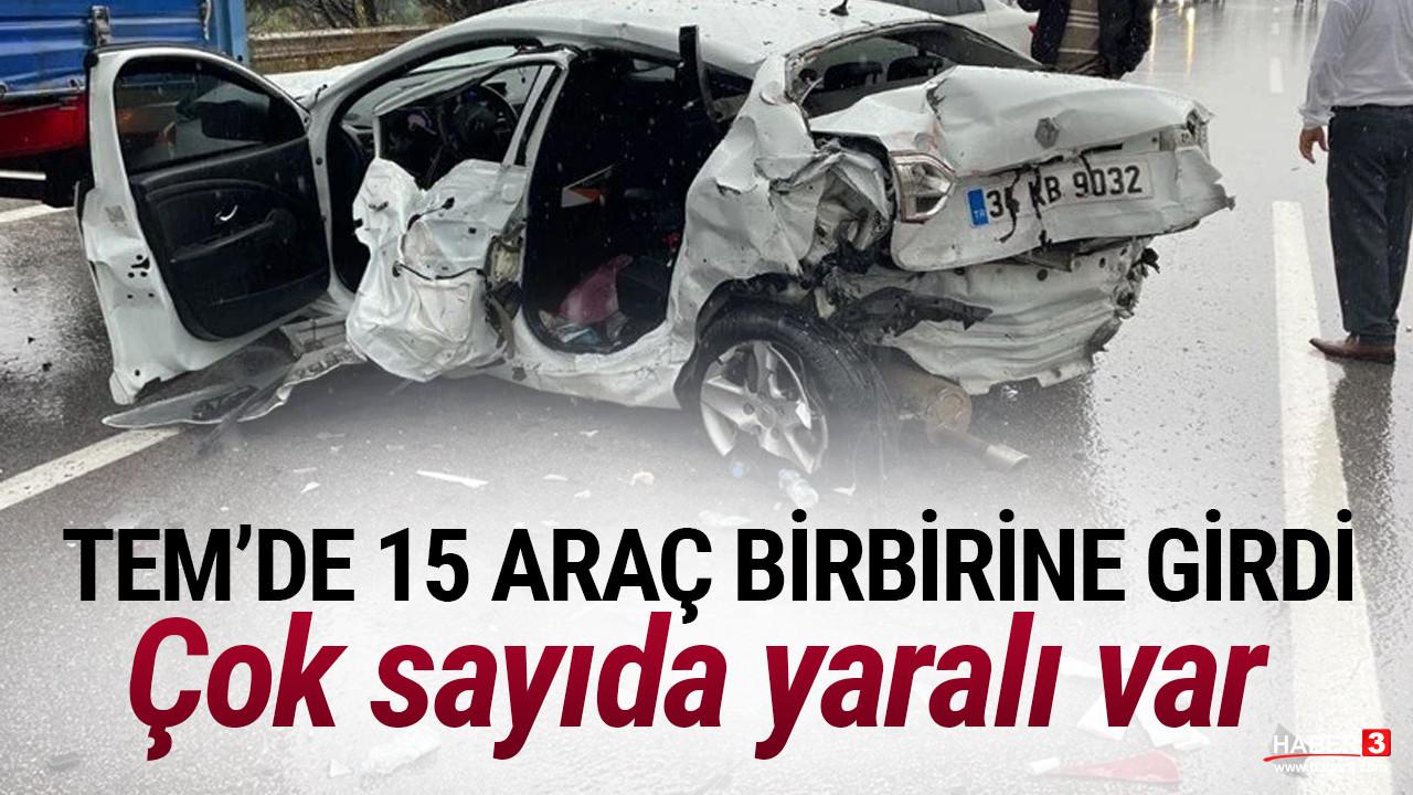 TEM'de zincirleme kaza: Ankara yönü ulaşıma kapandı