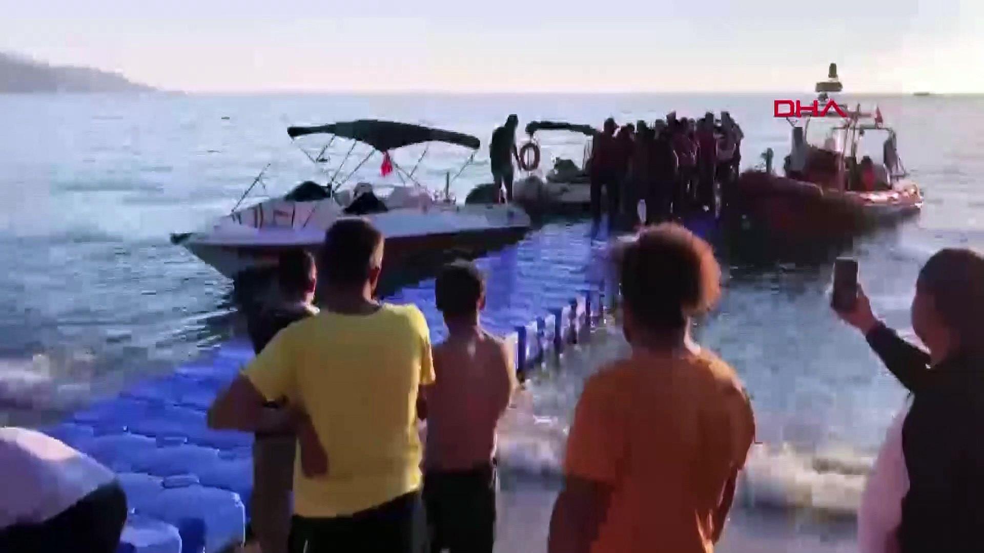 Fethiye'de korku dolu anlar! 3 yamaç paraşütü pilotu denize çakıldı
