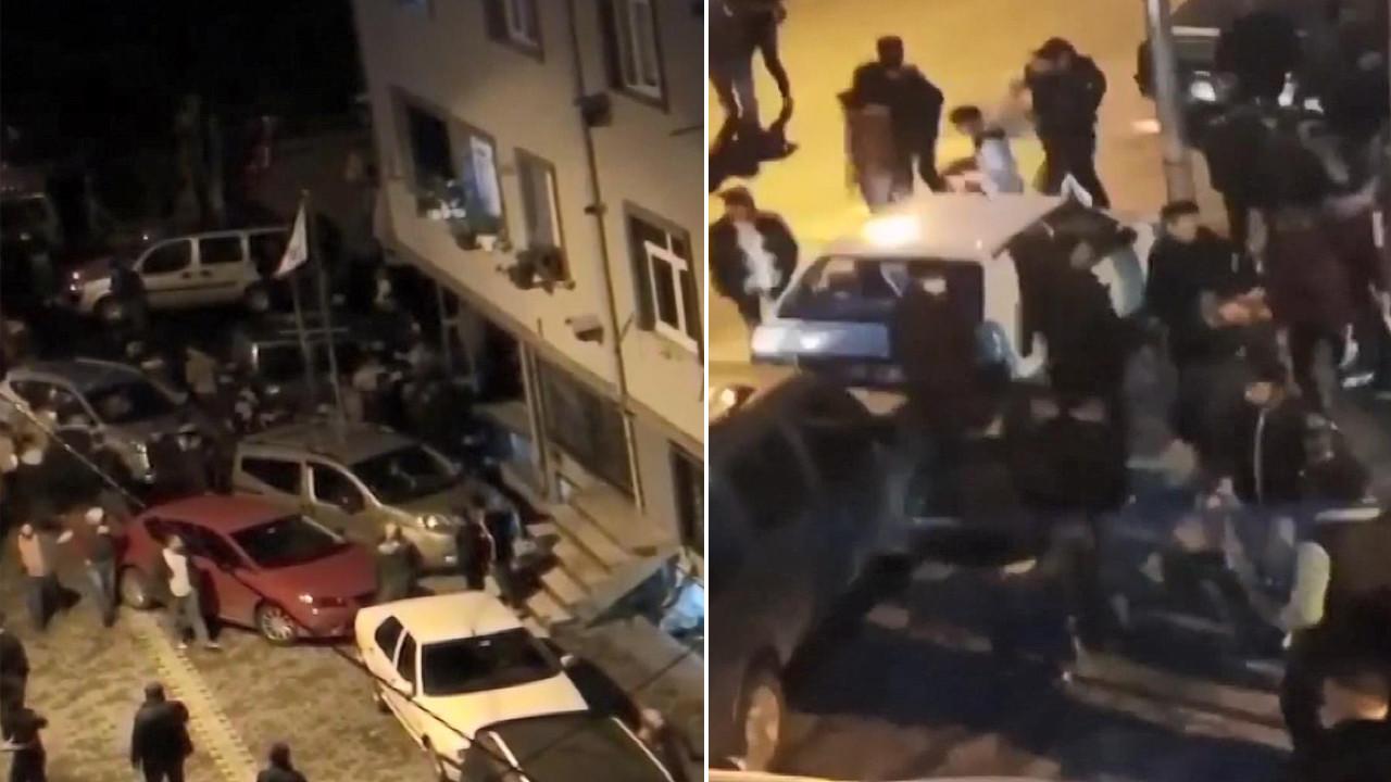 İstanbul'da iki grup birbirine girdi