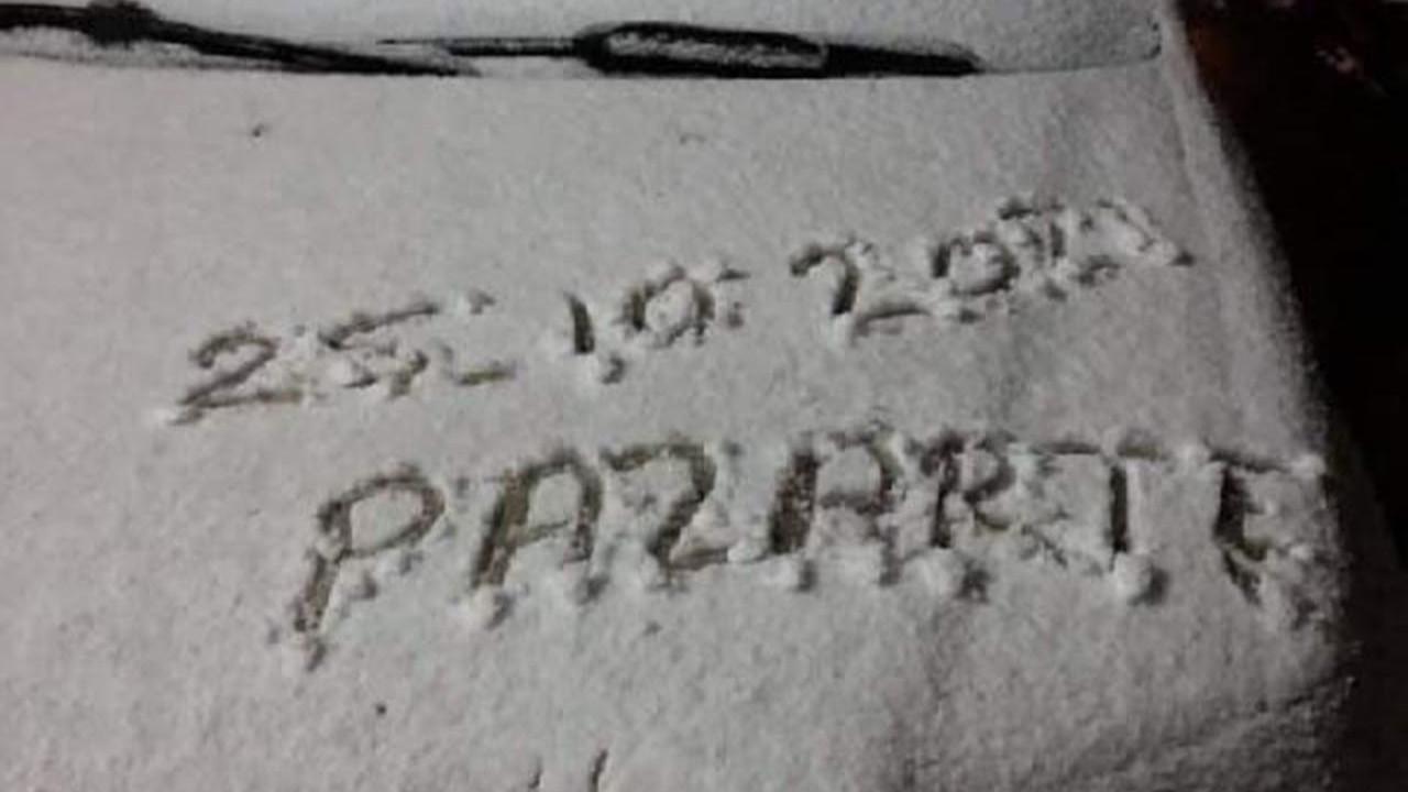 Meteoroloji uyarmıştı... Kar yağışı başladı!