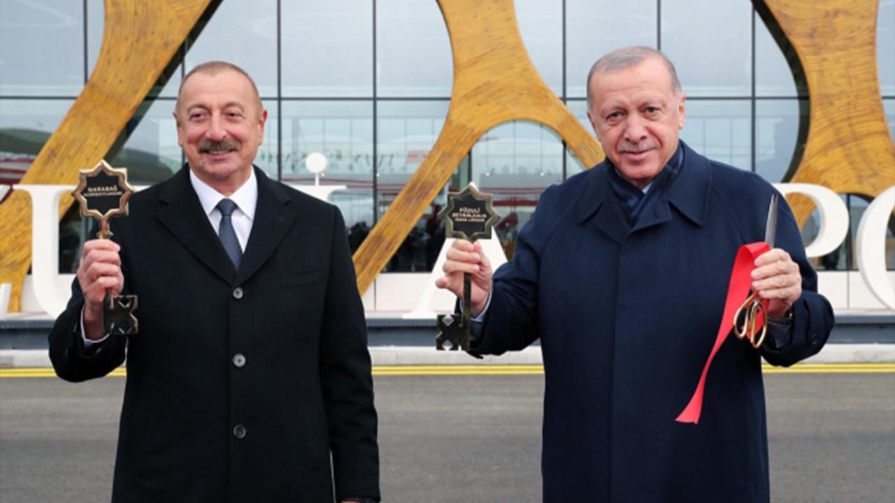 Azerbaycan'a giden Cumhurbaşkanı Erdoğan ''ilk'' oldu