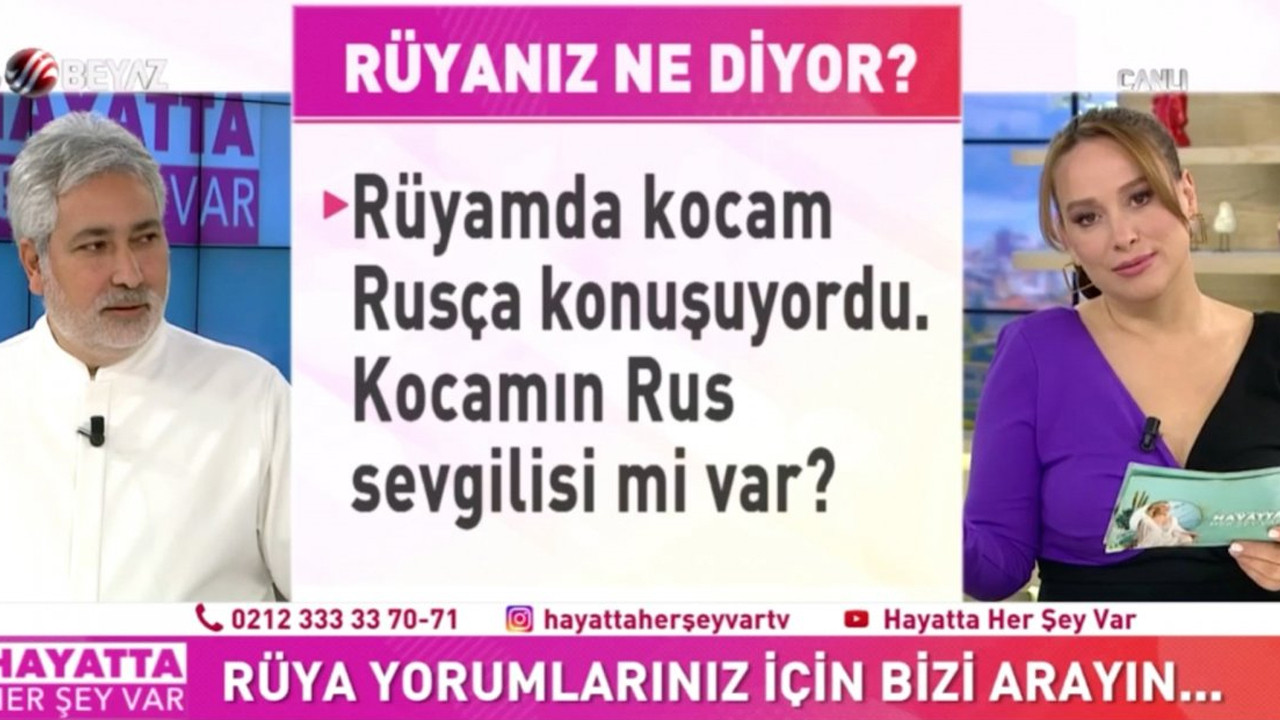 Canlı yayında ilginç soru: Kocam rüyamda Rusça konuşuyordu, sevgilisi mi var?