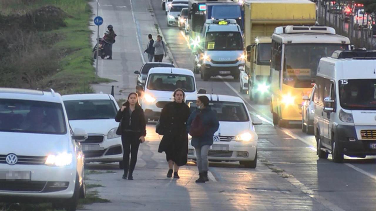 İstanbul'da yayaya bile korna çalan ''kaldırım magandaları'' kamerada