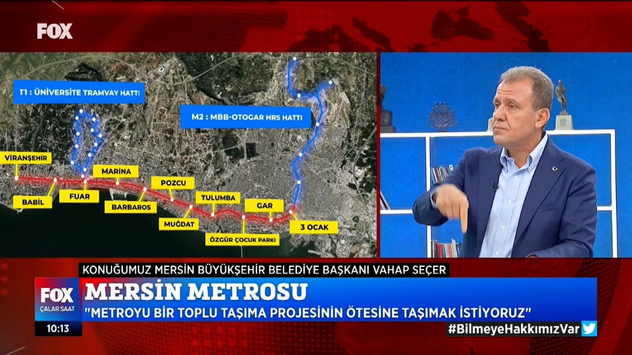 Mersin Büyükşehir Belediye Başkanı Seçer: ''CHP'li belediyeler algıları tuzla buz etti''