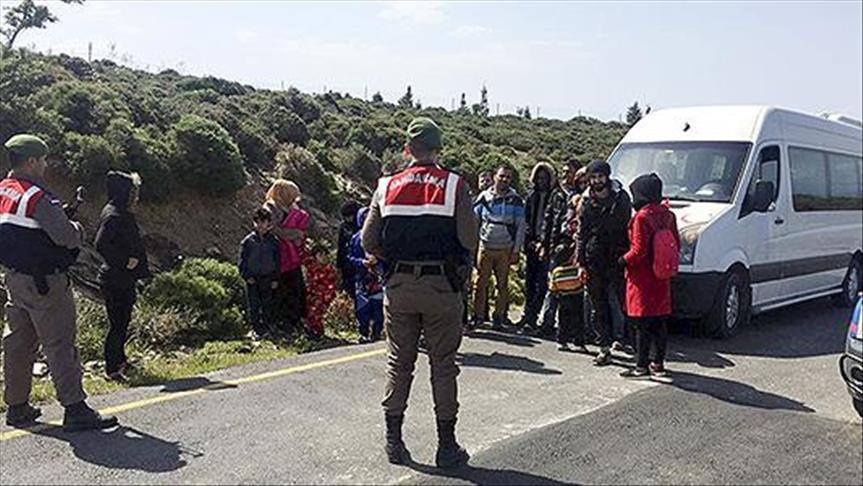 İzmir'de Yunanistan'a geçmeye çalışan 38 kişi yakalandı