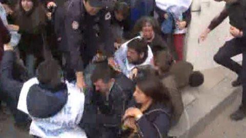 Ankara'da sıcak dakikalar ! Polis müdahale etti